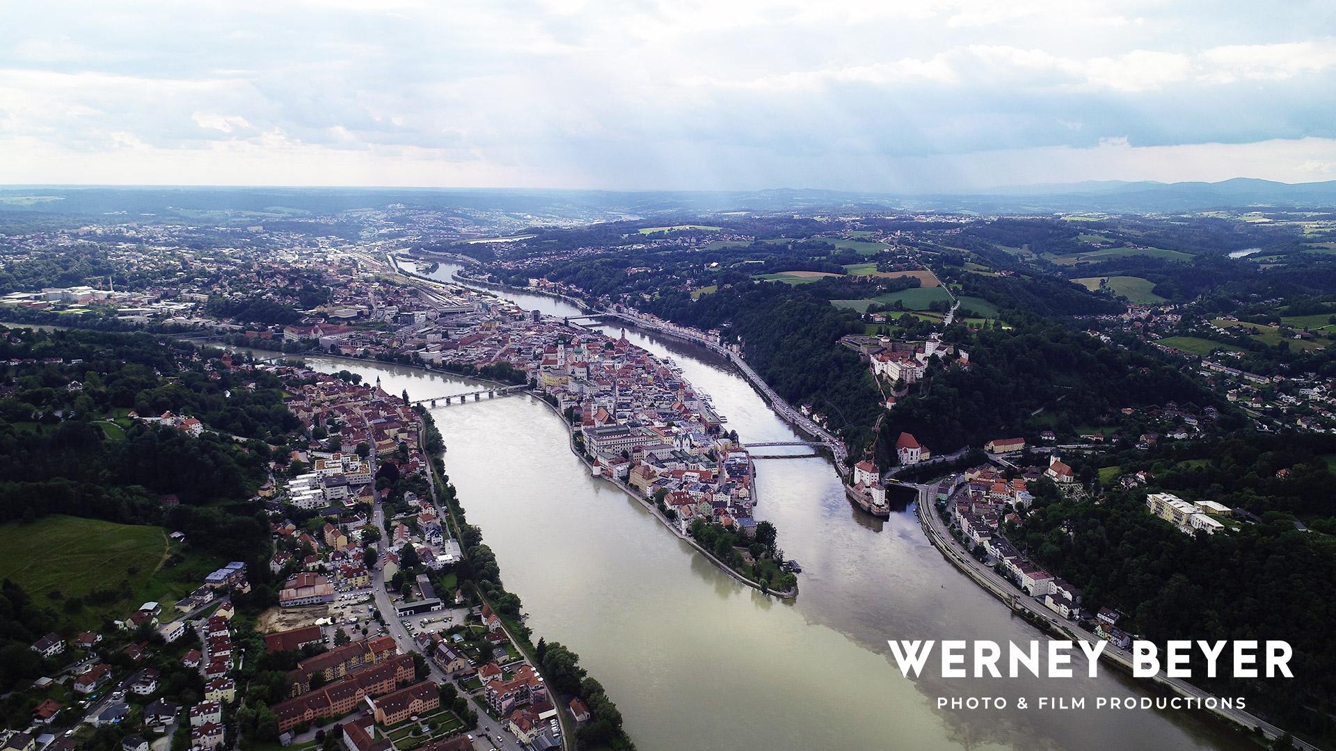 Three River Town, Passau, Bavaria, Germany