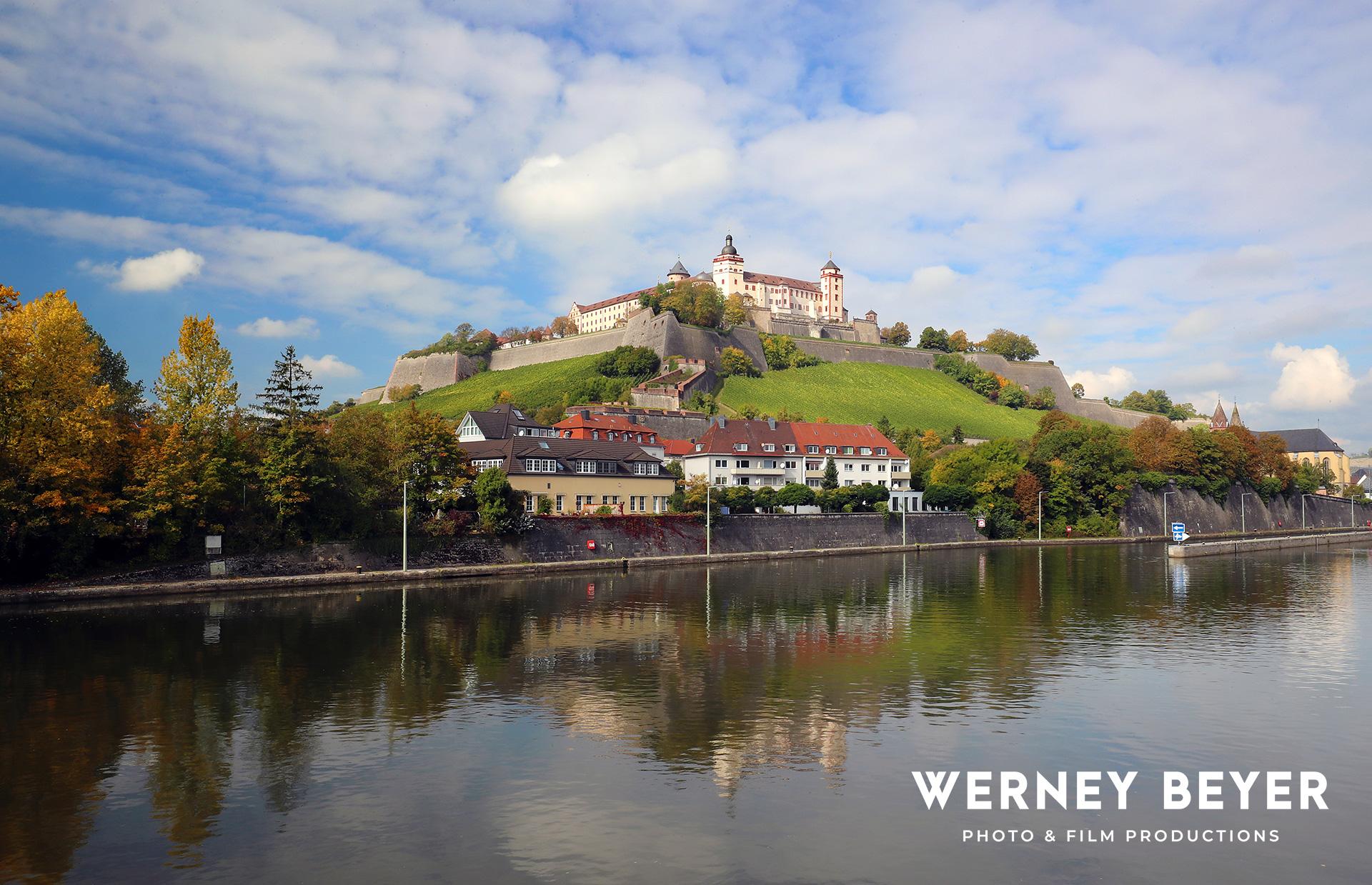 Fortress Marienberg, Wurzburg, River Main, Franconia, Germany