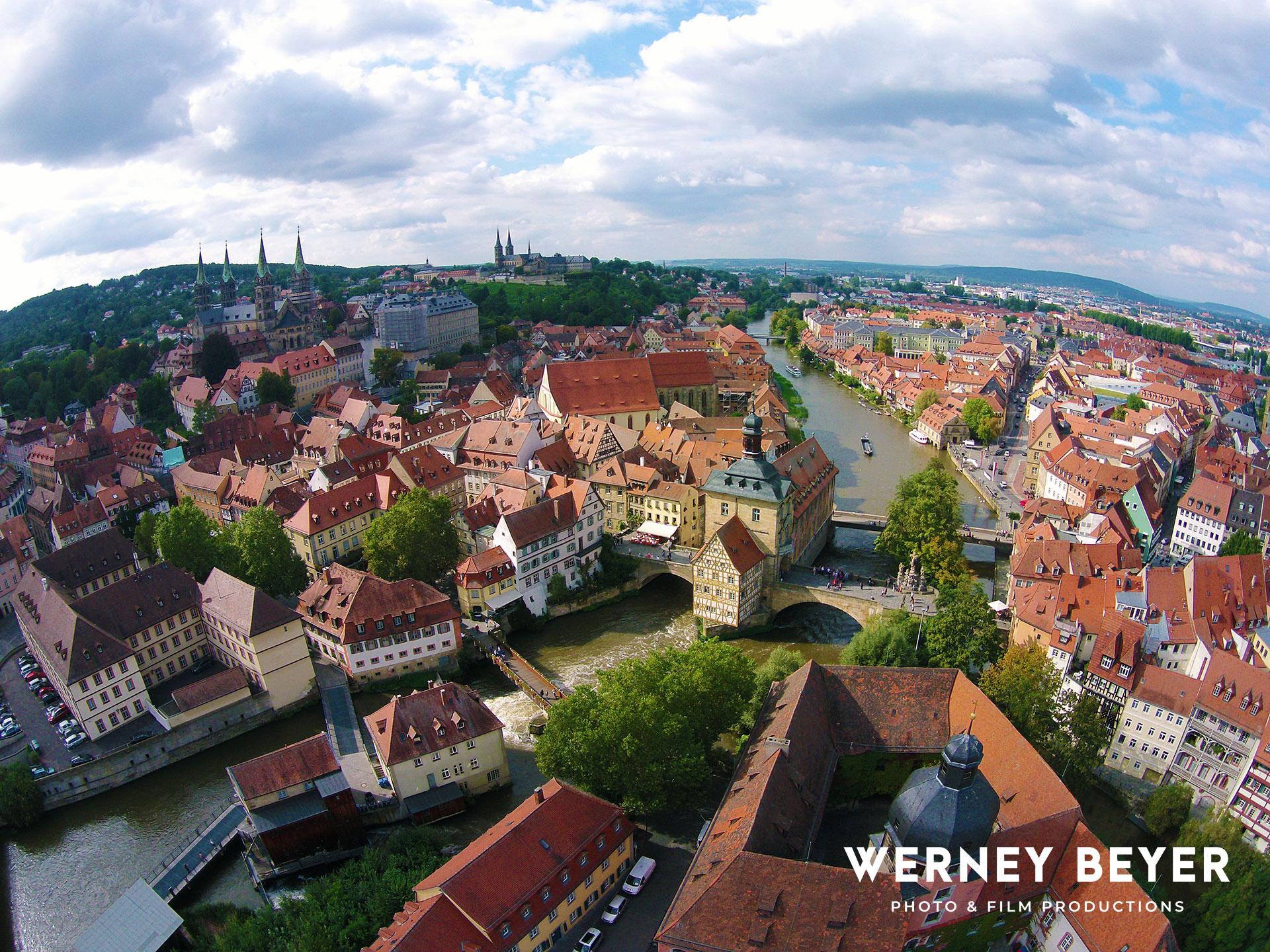 Old Town Bamberg, Main Danube Canal, Bavaria, Germany