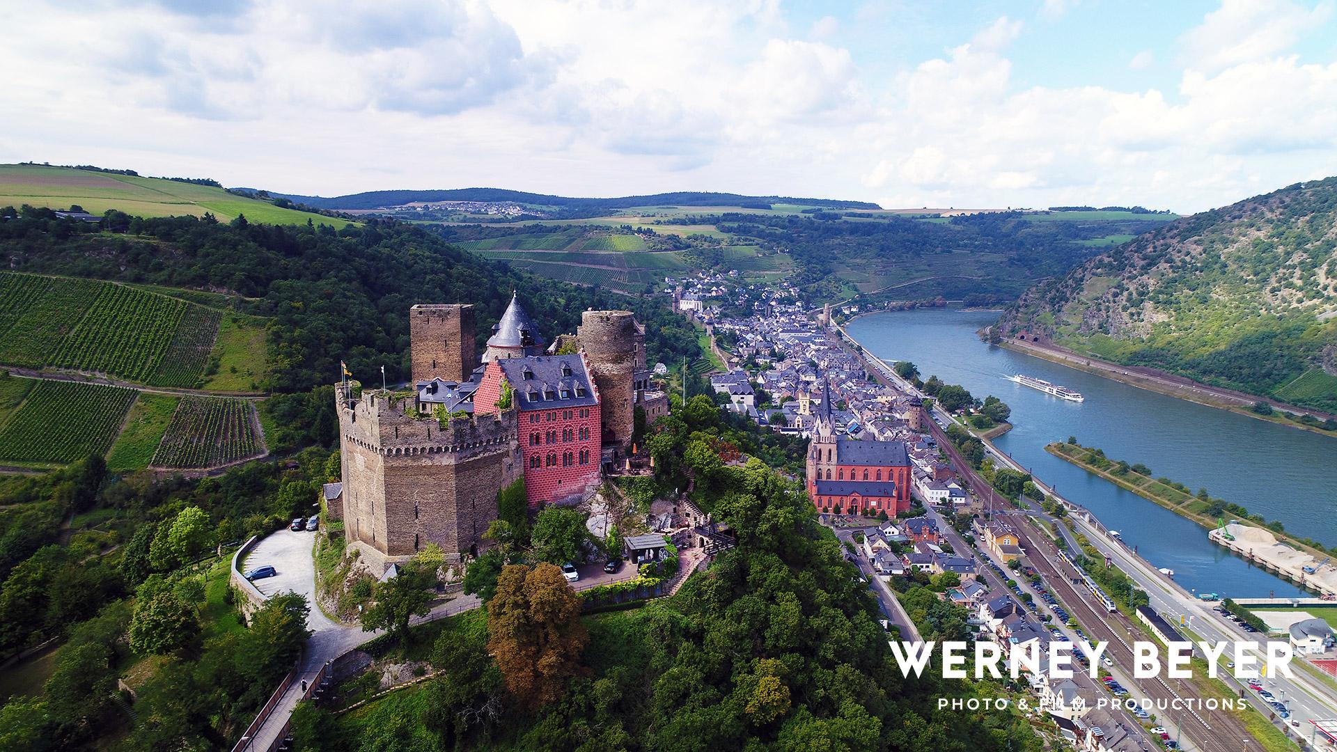 Stahleck Castle, Oberwesel, River Rhine, Germany