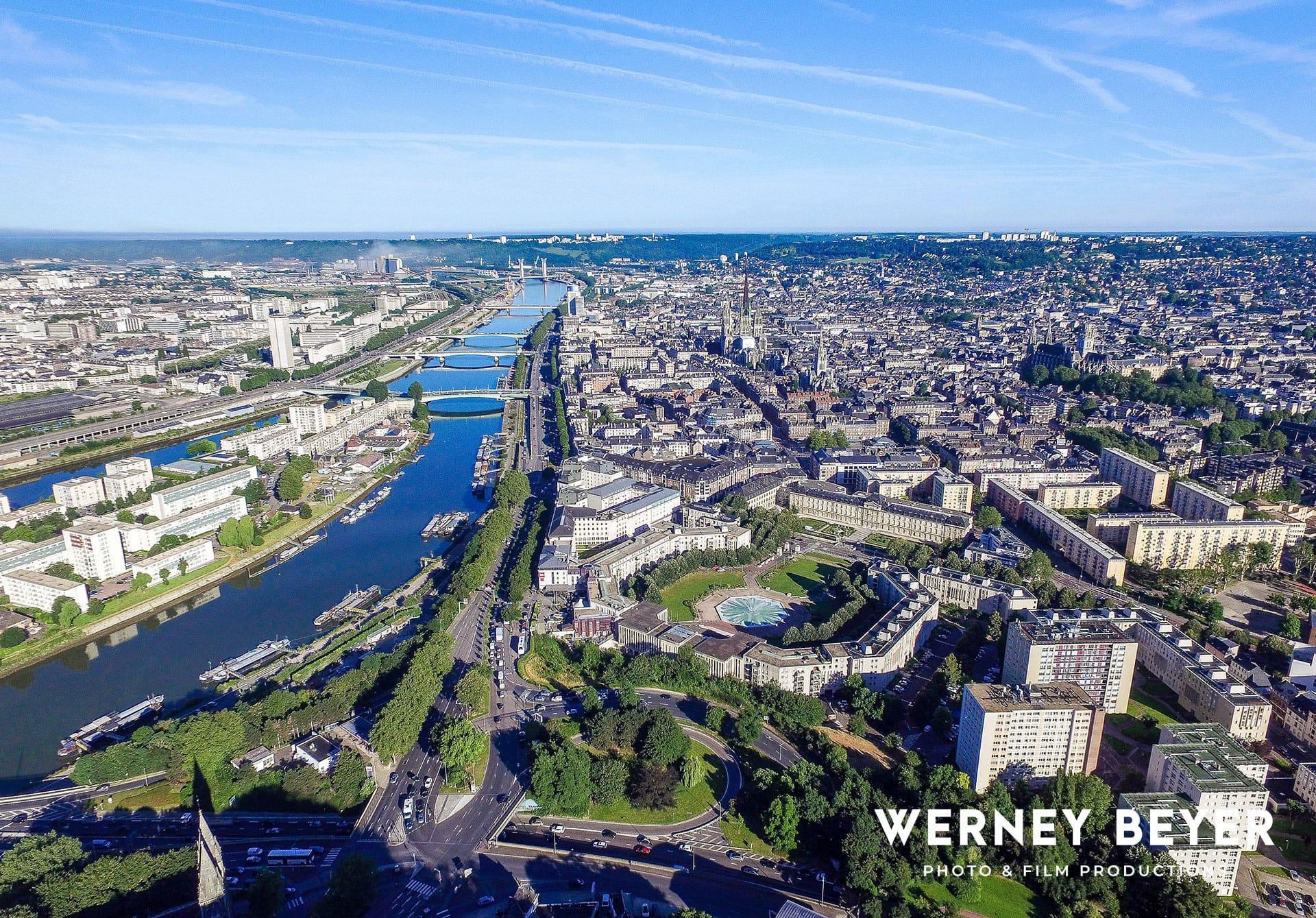 Rouen, Fluss Seine, Frankreich