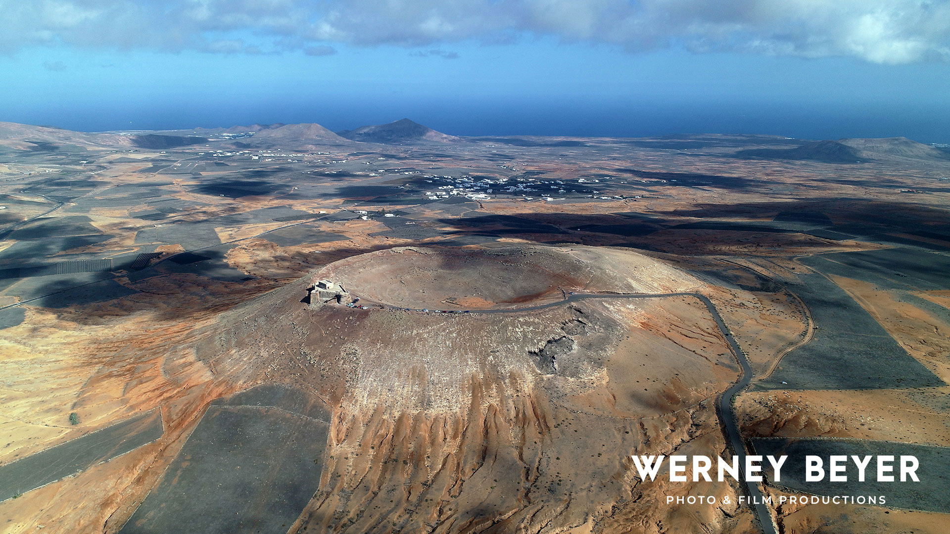 Volcanic crater, Lanzarote, Canary Islands