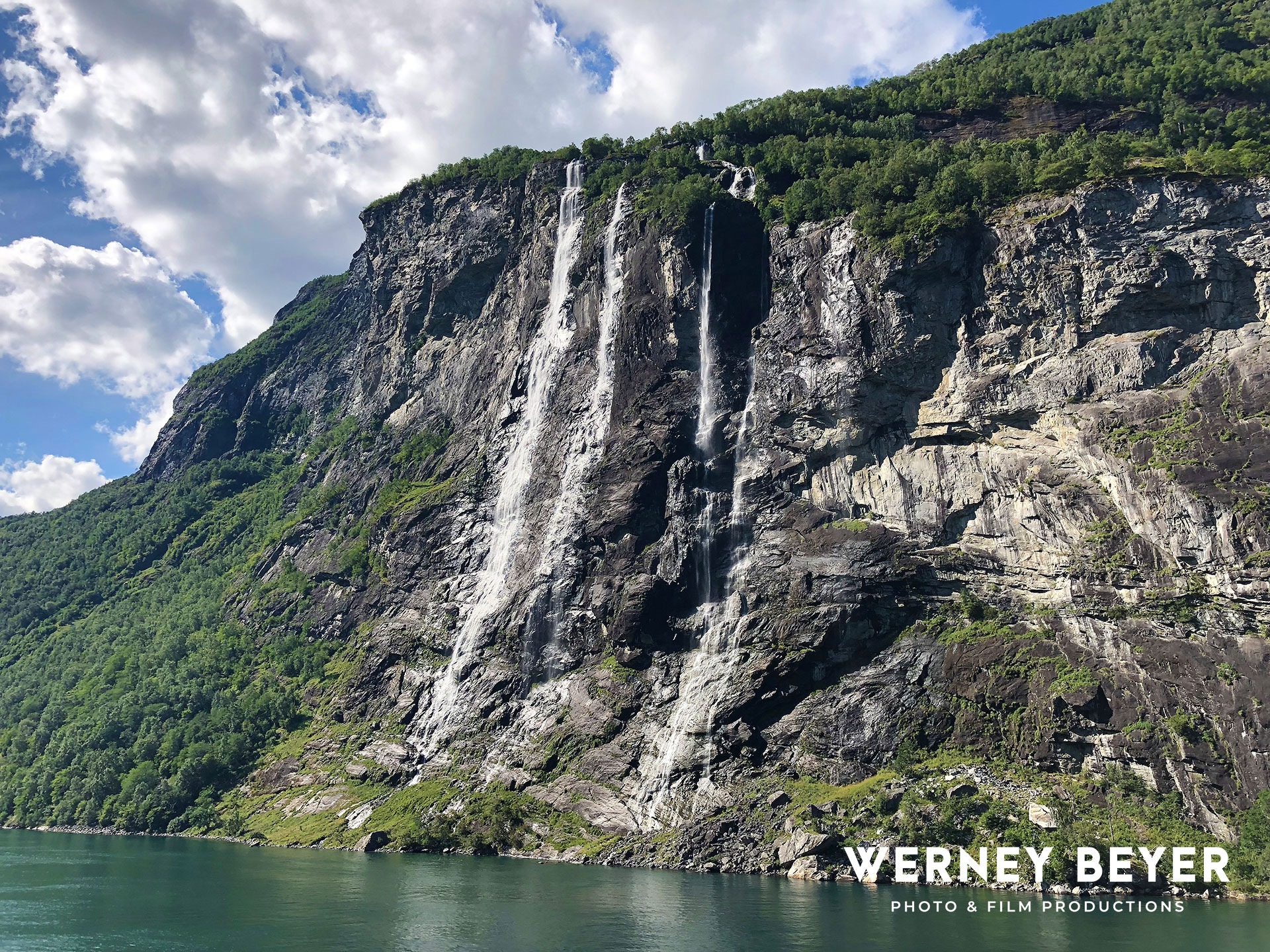 Waterfall Seven Sisters, Geiranger Fjord, Norway